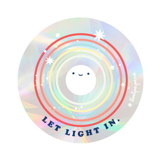 Let Light In Suncatcher Sticker