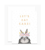 Let's Eat Cake Birthday Card