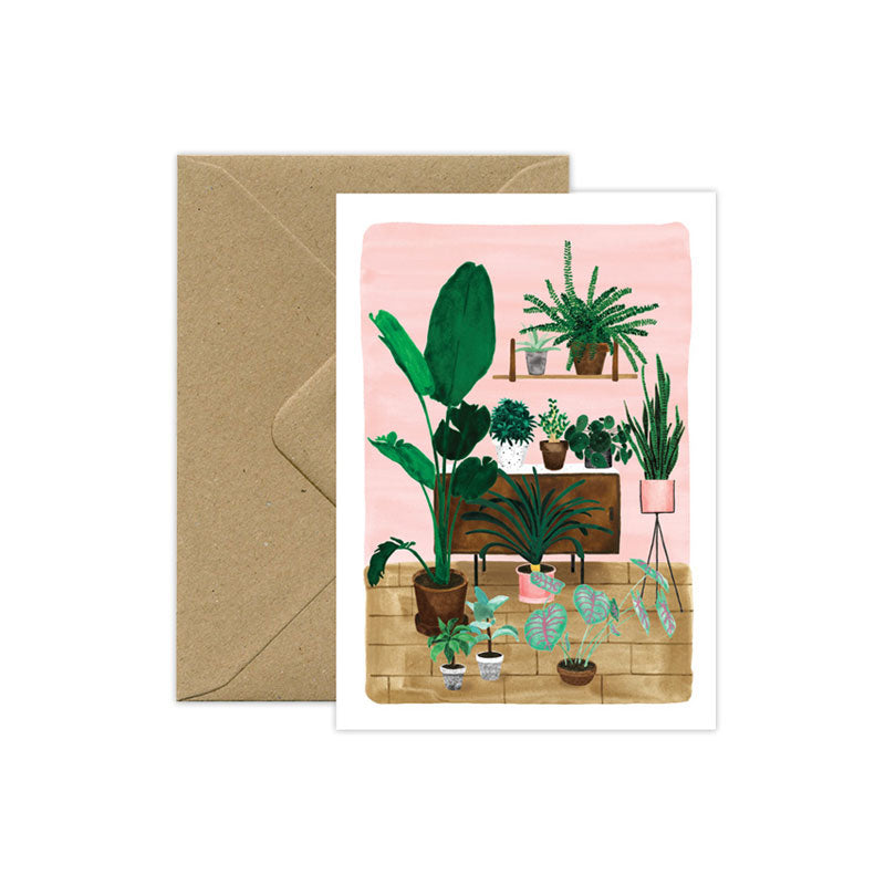 Living Room Plant Love Card - M.Lovewell