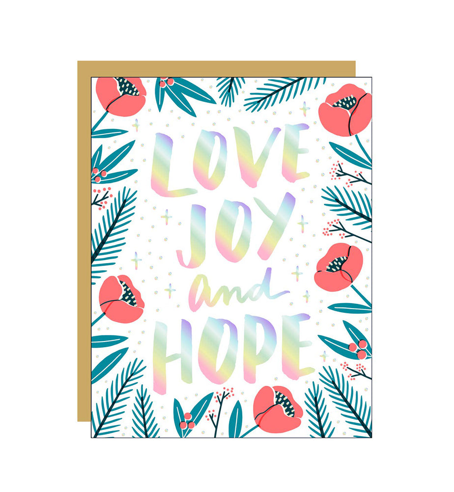 Love, Joy and Hope Card