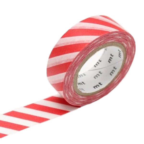 MT Red Striped Washi Tape