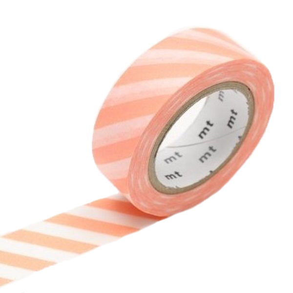 MT Coral Pink Striped Washi Tape