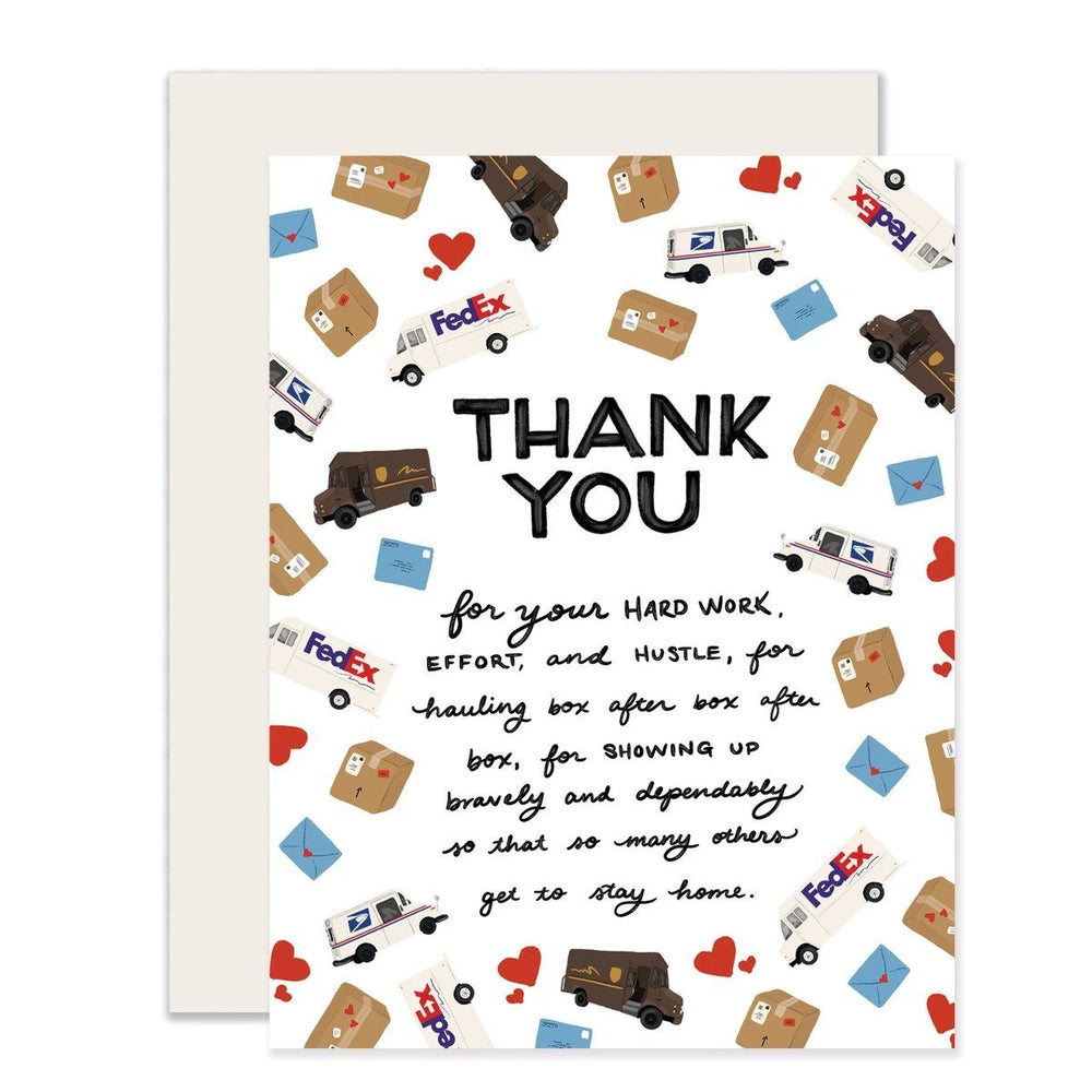 Mail Delivery Workers Thank You Card