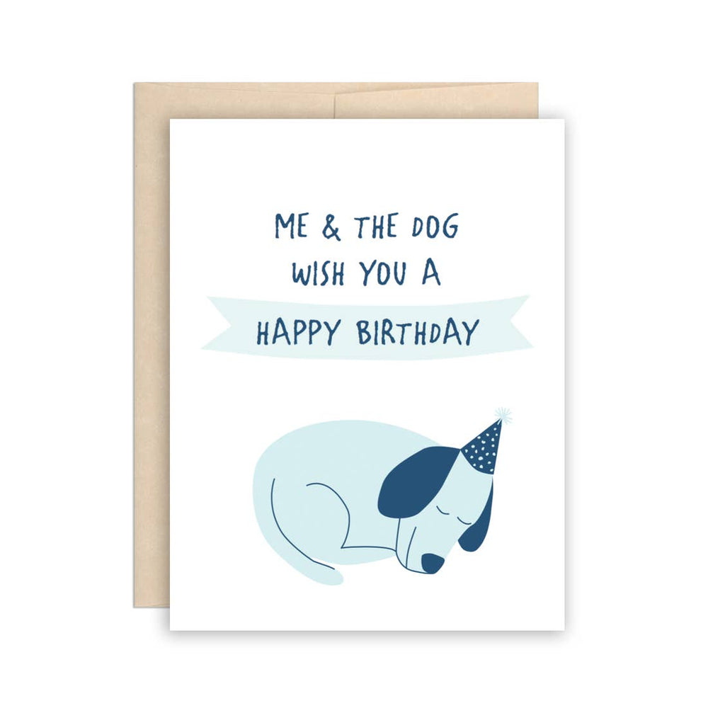 Me + the Dog Birthday Card