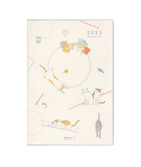 Midori B6 2021 Cat Pocket Datebook