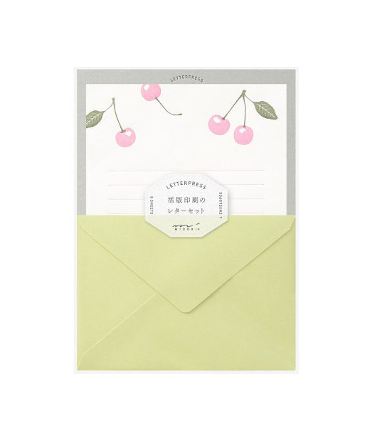 Cherry Letterpress Letter Set