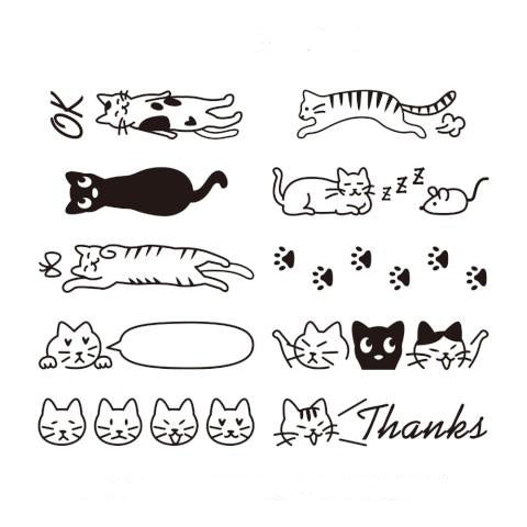 Midori Rotating Paintable Stamp Cat - M.Lovewell