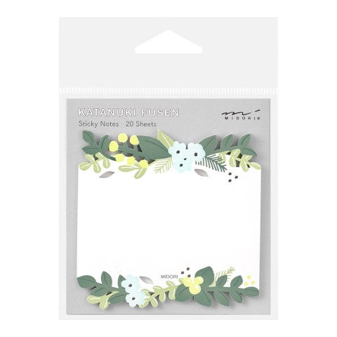 Midori Sticky Note Die-Cut Leaves