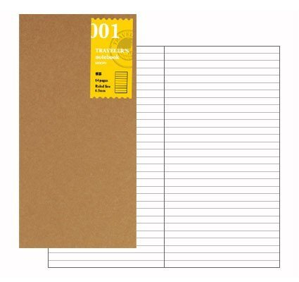 Midori Traveler's Notebook Inserts  001-003 - Lined, Grid, Blank