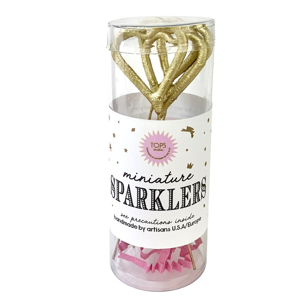 Gold Heart Mini Sparklers - Pack of 4