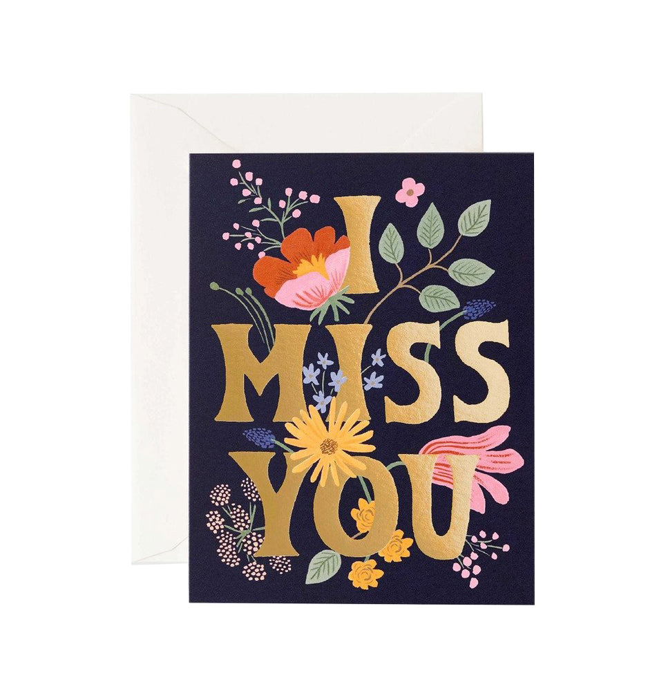 Miss You Floral Card