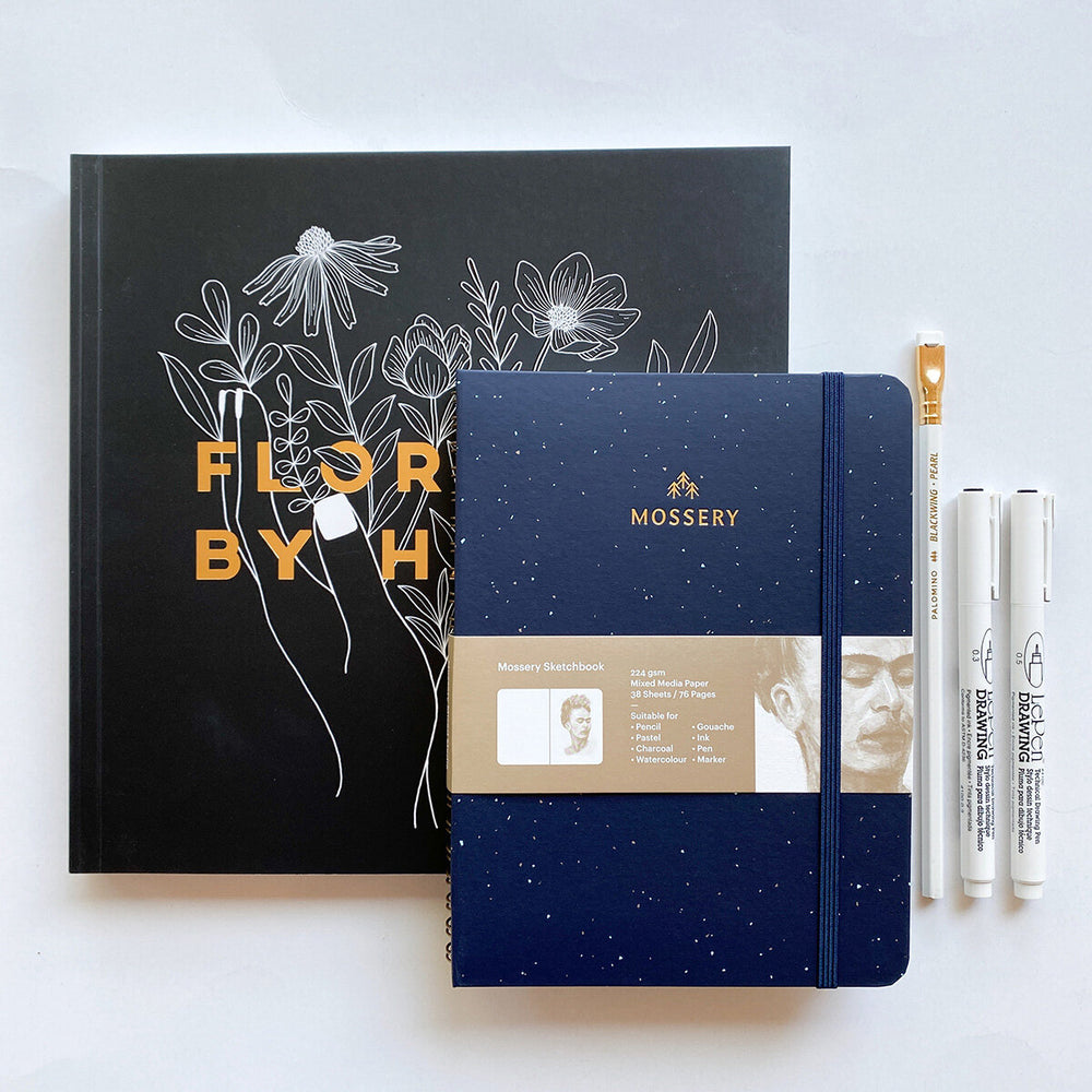 Florals by Hand Drawing Kit