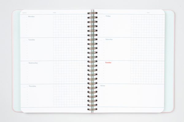 Mossery Undated Weekly Planner - M.Lovewell
