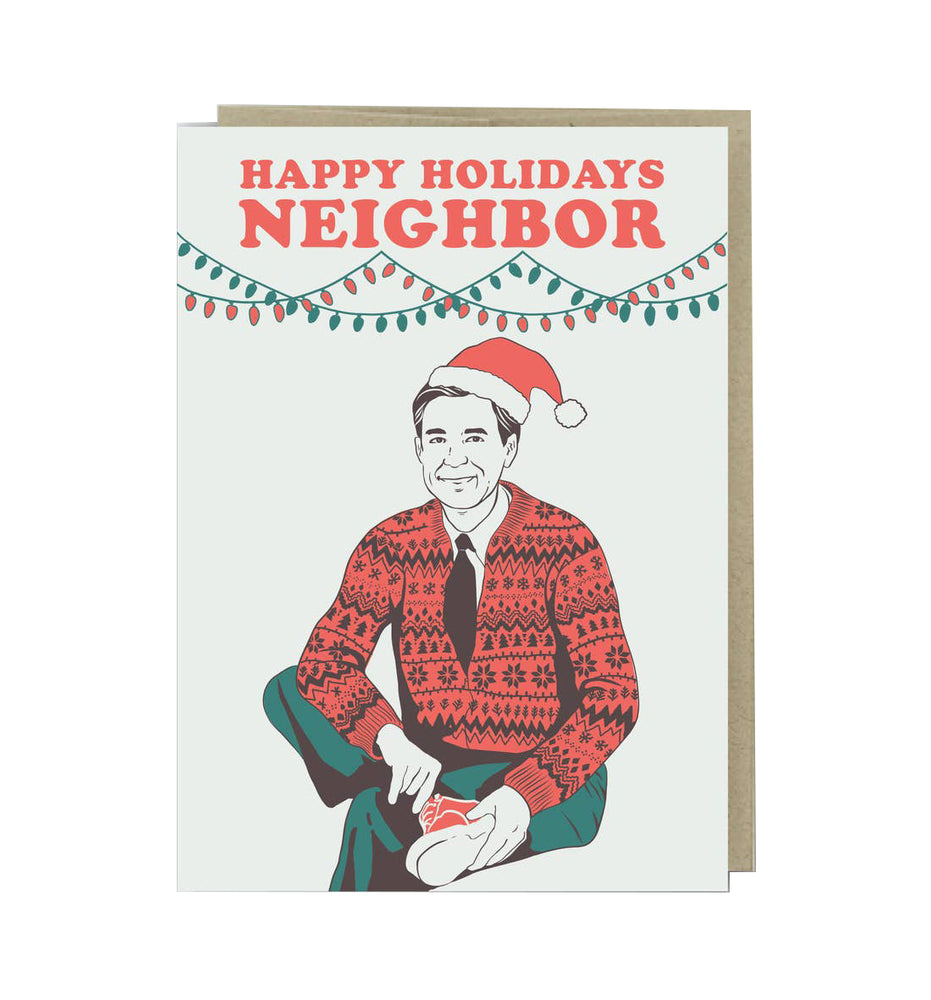 Mr. Rogers Happy Holidays Neighbor Card
