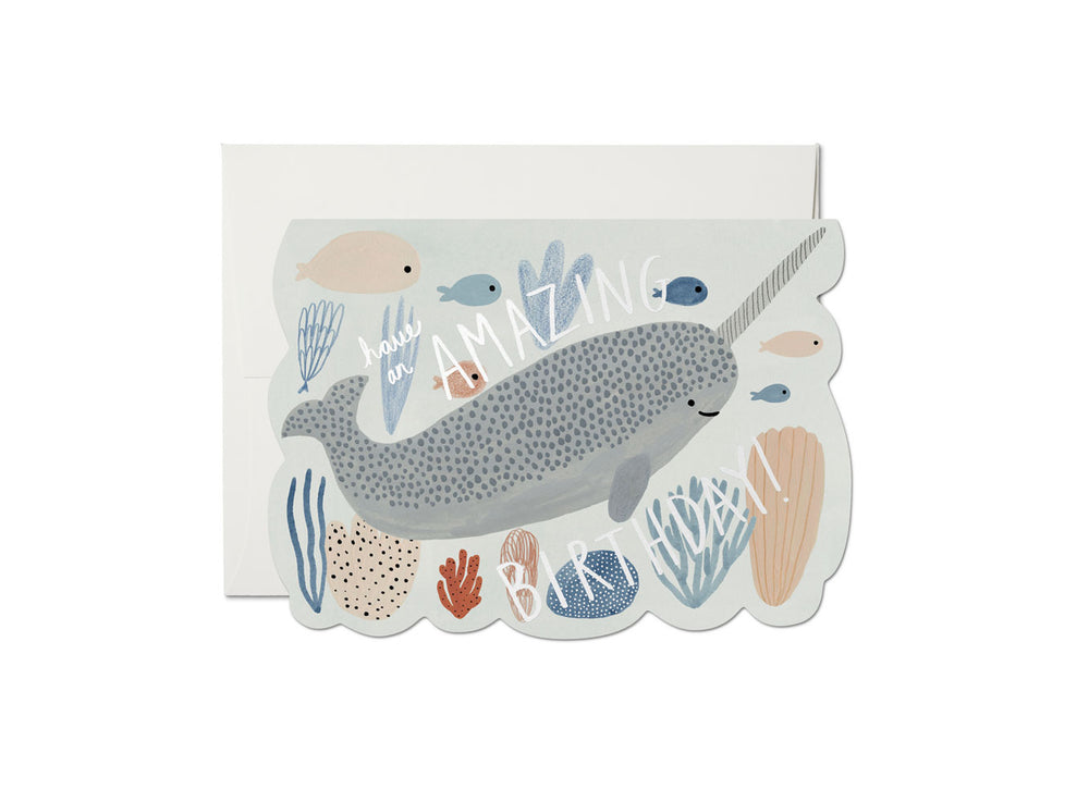 Narwhal Birthday Card - M.Lovewell
