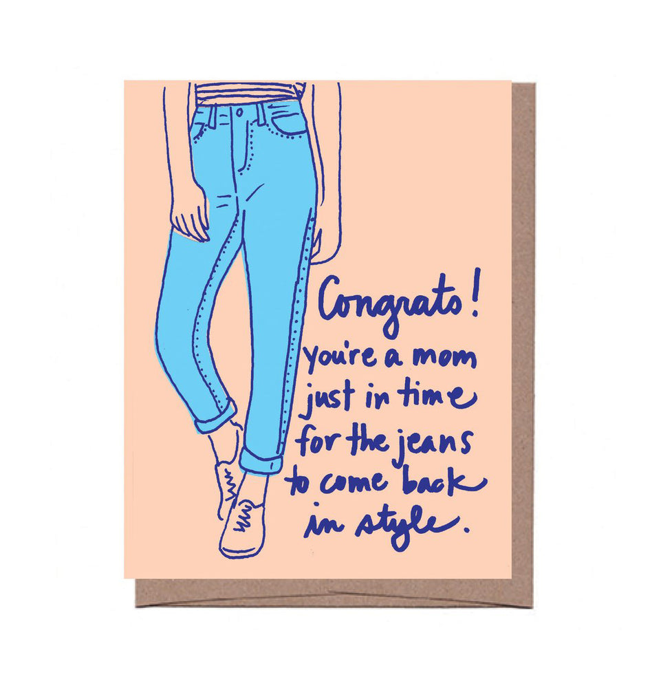 New Mom Jeans Card