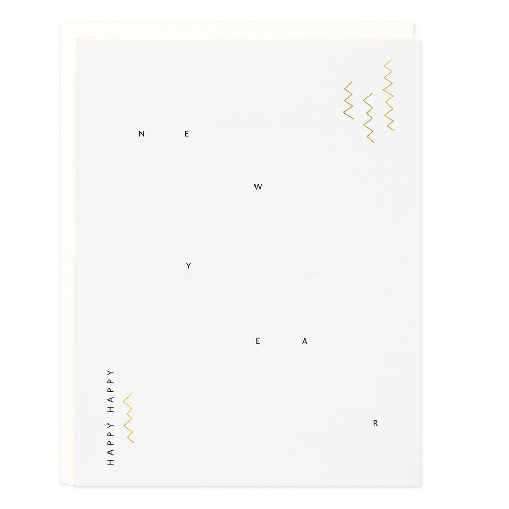 New Year Zig Zag Card