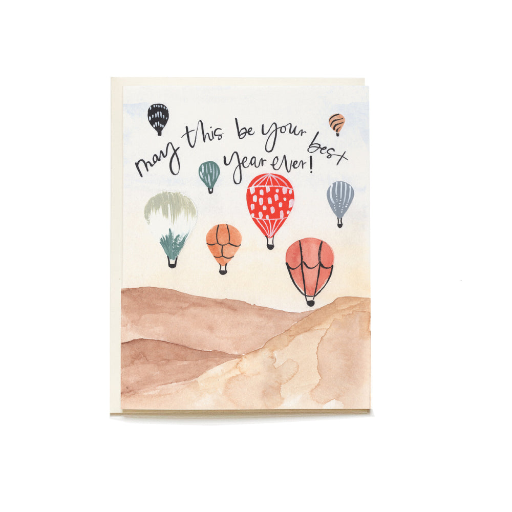 Balloon Festival Birthday Card - M.Lovewell