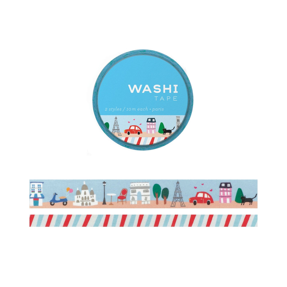 Paris Set of 2 Washi Tape
