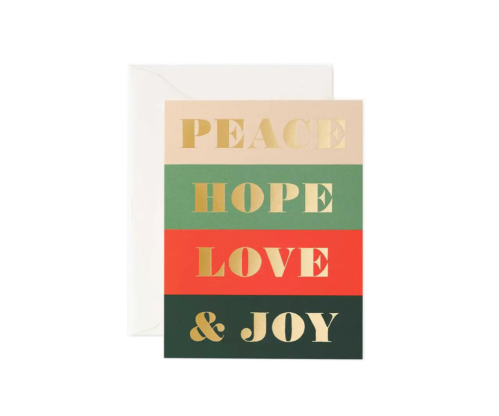 Peace & Joy Boxed Card Set of 8