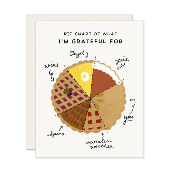 Pie Chart Thanksgiving Card