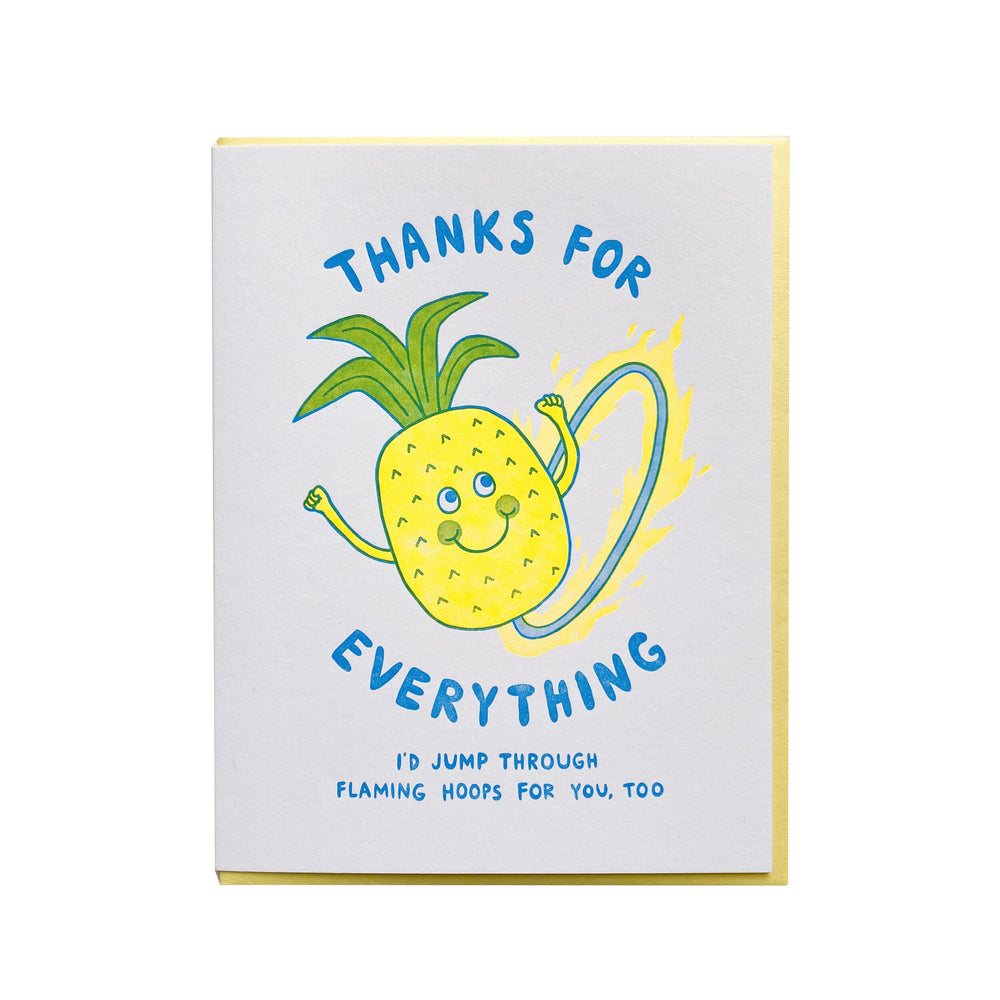 Pineapple Thank You Card - M.Lovewell
