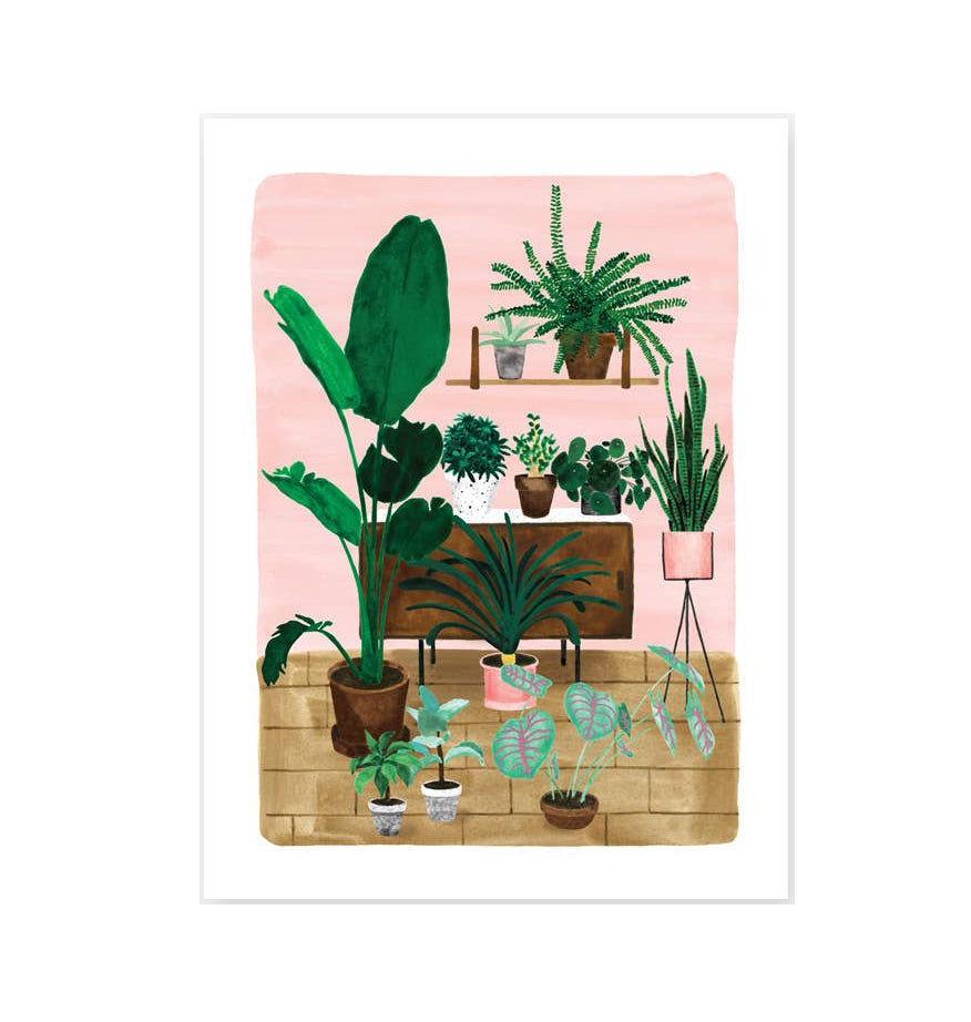 Plant Living Room Wall Print