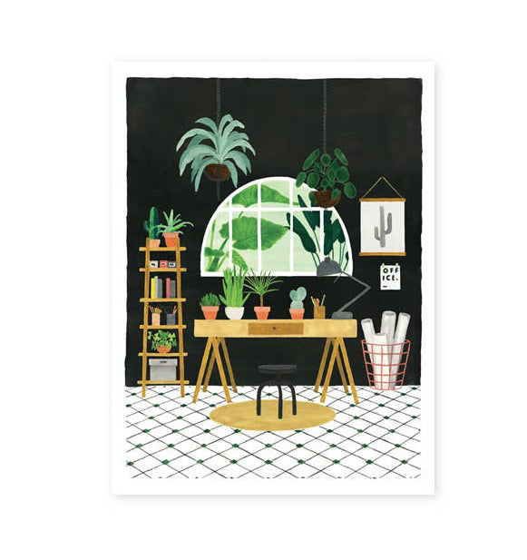 Plant Office Wall Print