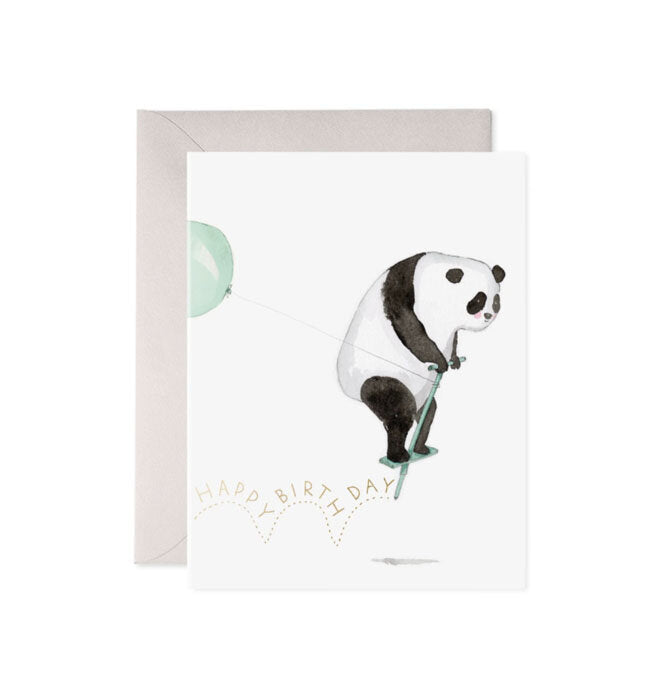 Pogo Panda Birthday Card