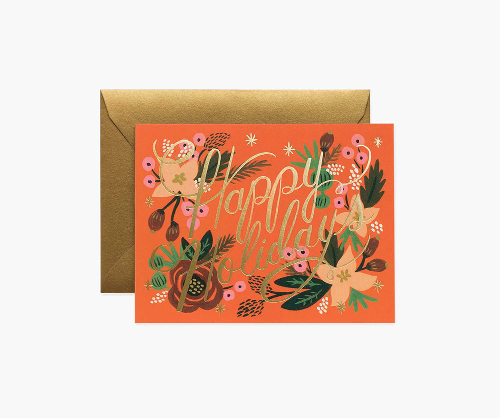 Poinsettia Holiday Cards Box of 8
