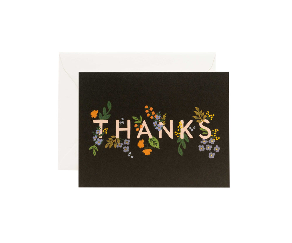 Posey Thank You Card - M.Lovewell