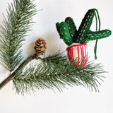 Potted Cactus Felt Ornament