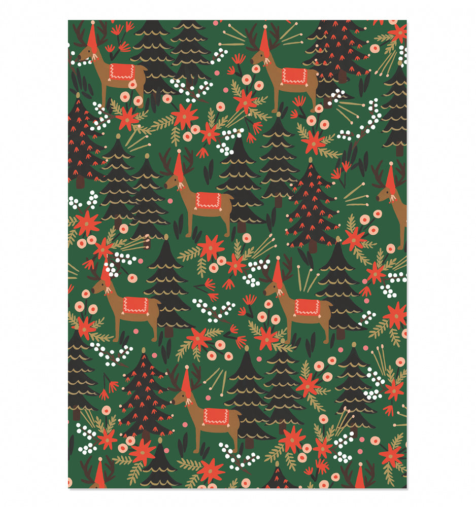 Reindeer Gift Wrap Sheet