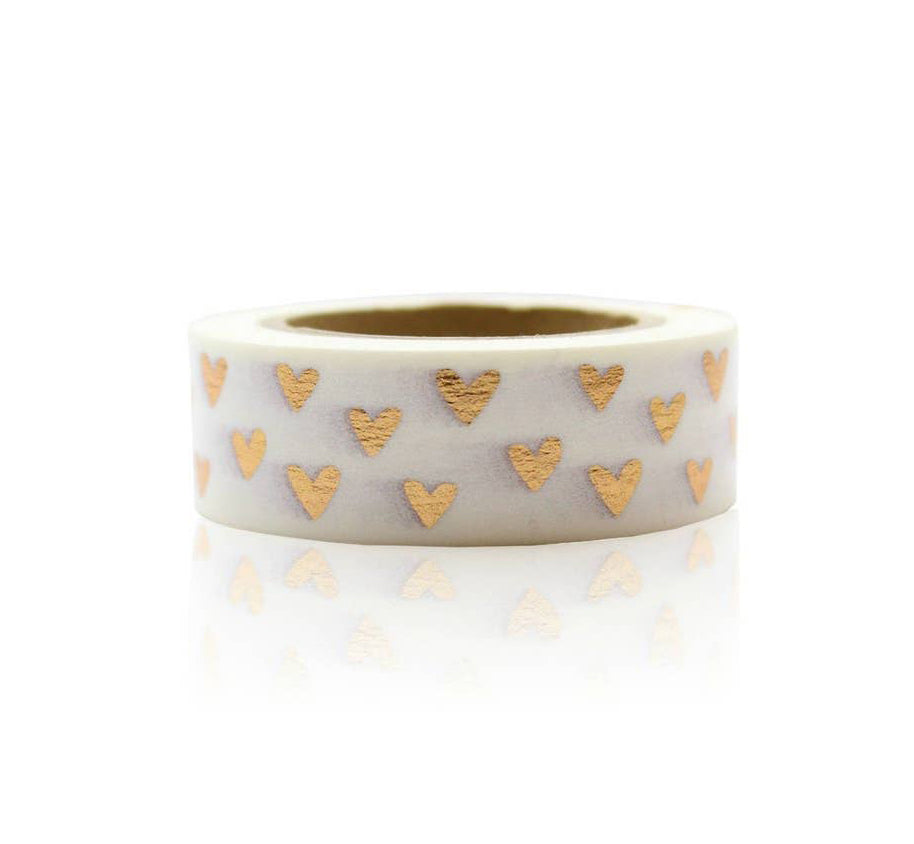 Rose Gold Heart Washi Tape