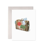 Good Luck Suitcase Card - M.Lovewell