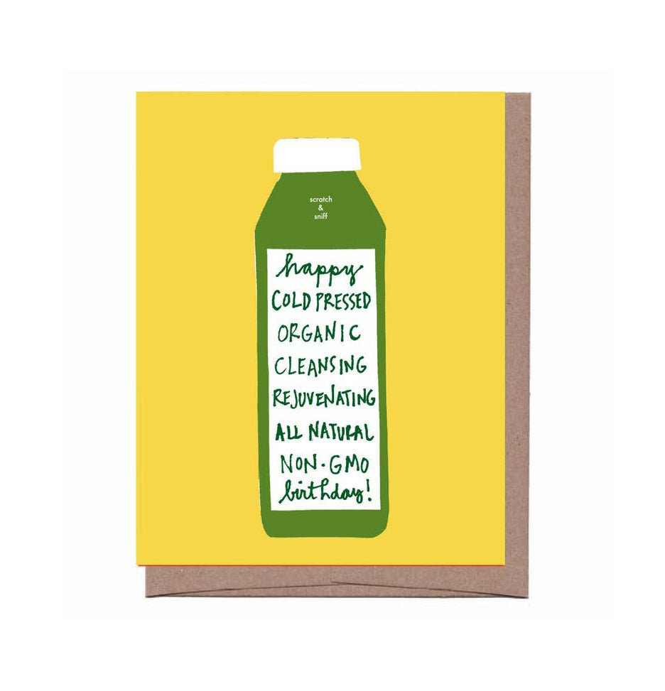 Scratch & Sniff Cold Pressed Birthday Card