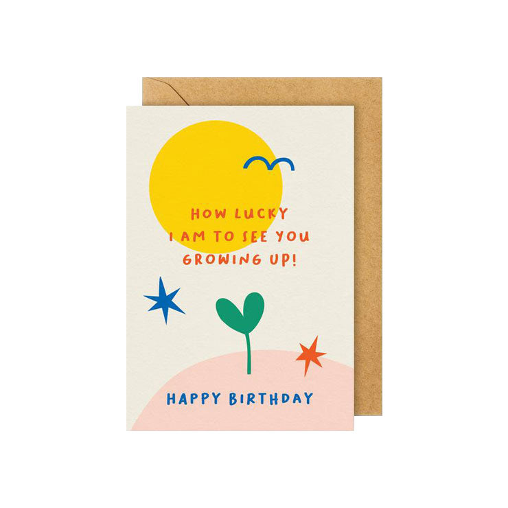 Seeing You Grow Up Birthday Card - M.Lovewell
