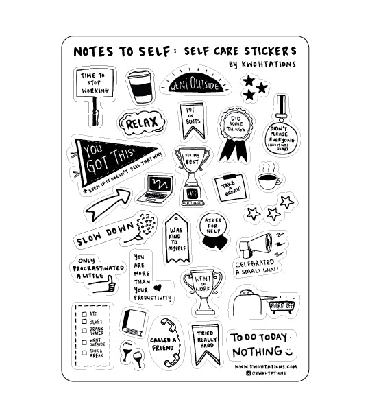 Self Care Sticker Sheet