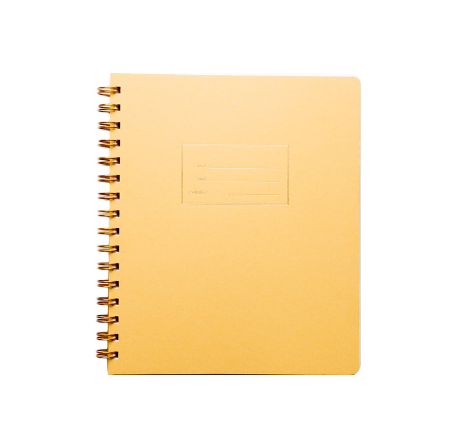 Standard Grid Notebook - Mustard Yellow