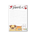 Snacks Friends Notepad