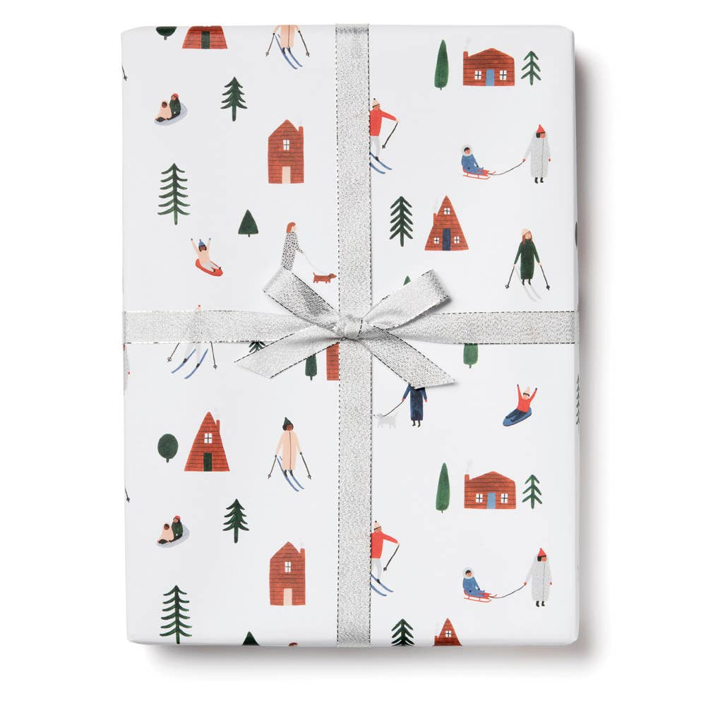 Snow Day Gift Wrap Sheet