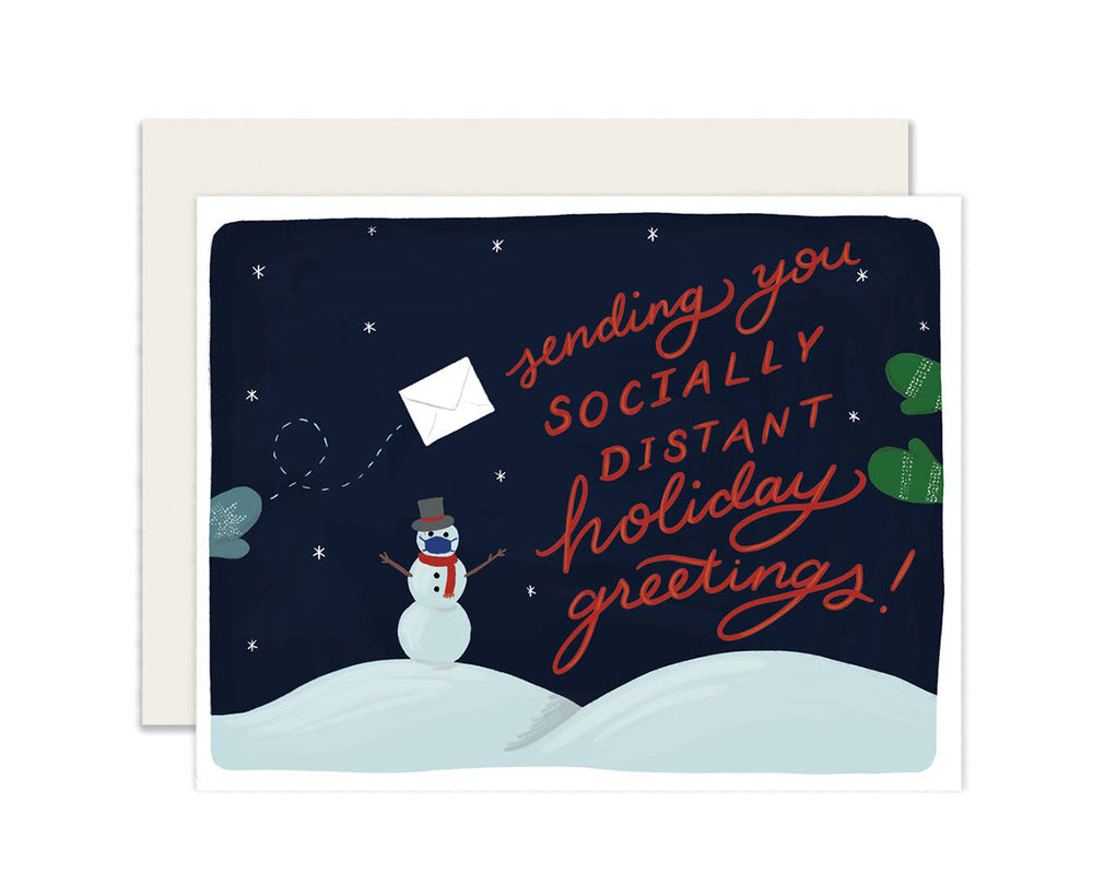 Socially Distant Holiday Greetings Card Box of 6