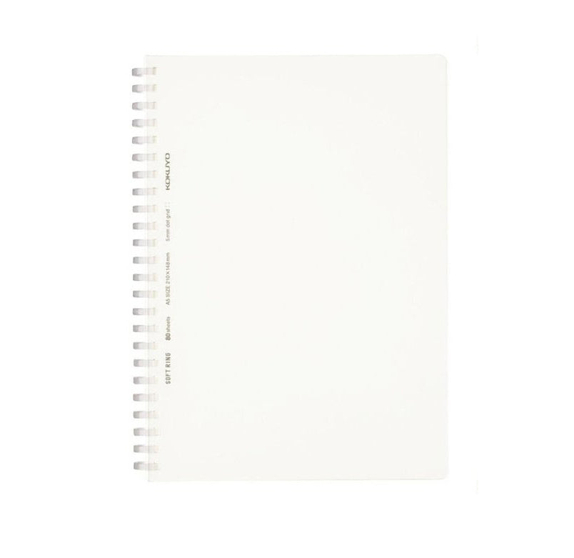 Soft Ring A5 Dot Grid Notebook - White