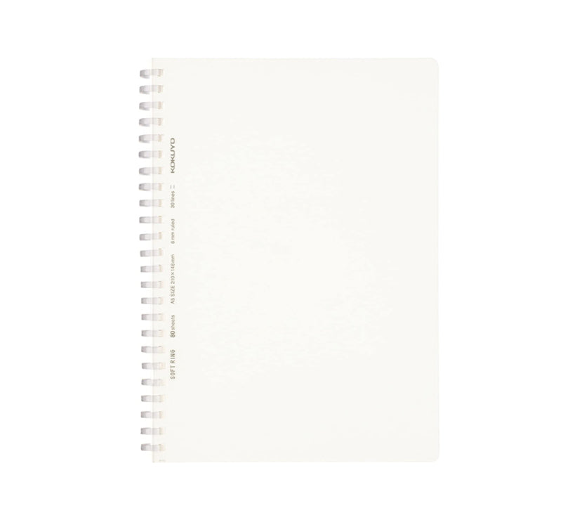 Soft Ring A5 Lined Notebook - White