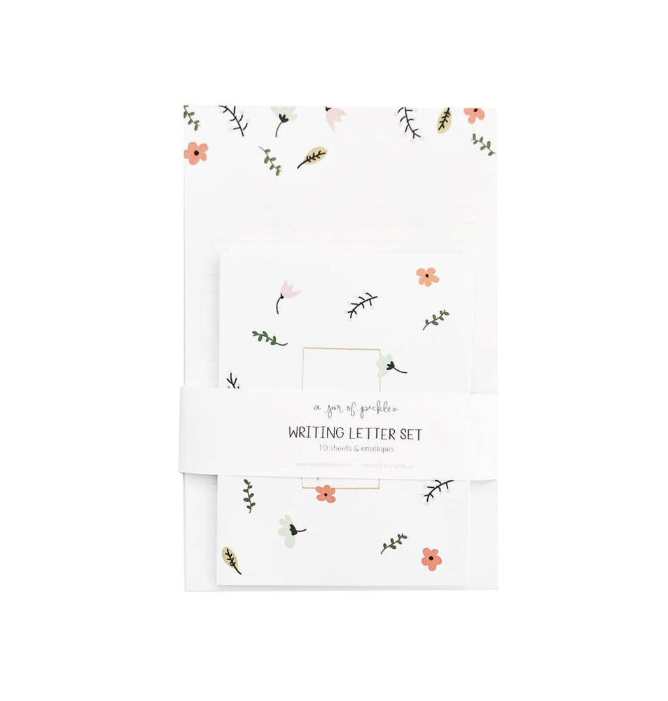 Happy Floral Letter Writing Set