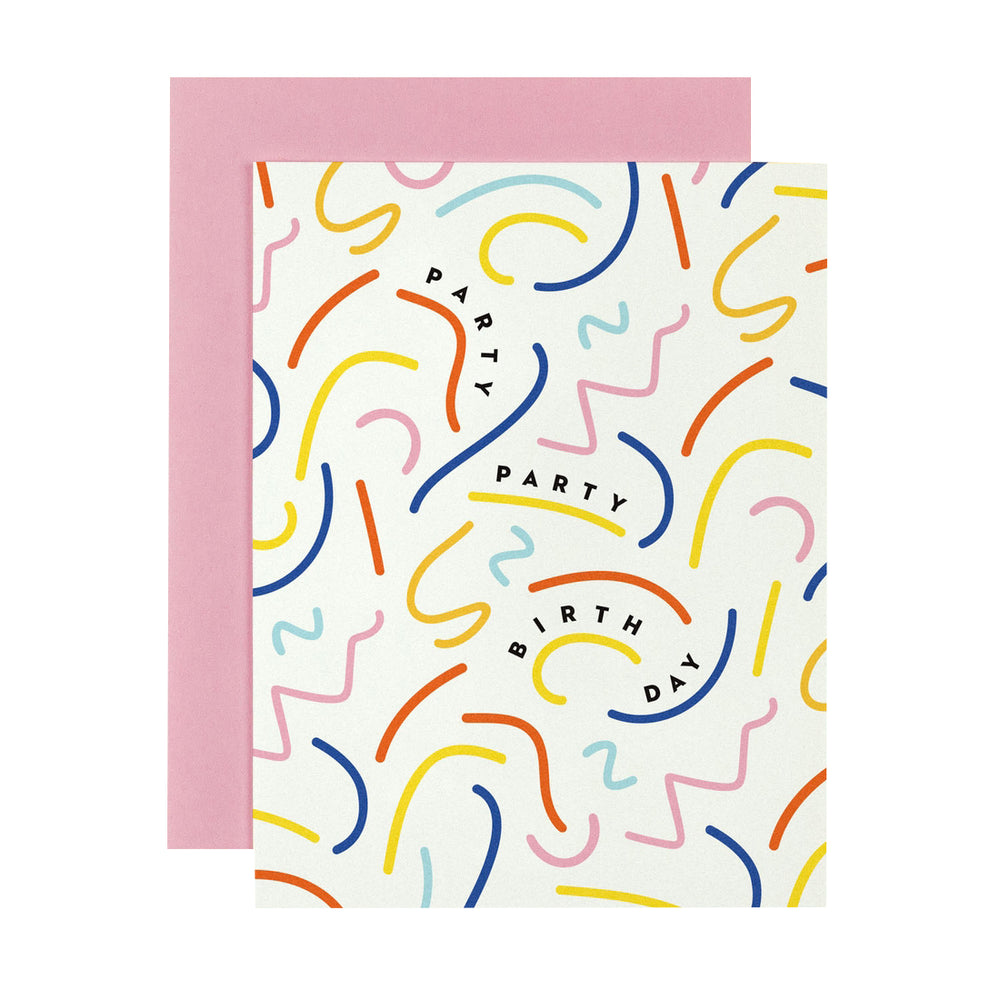 Squiggle Party Birthday Card