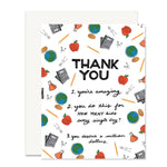 Teacher Thank You Card - From Parent