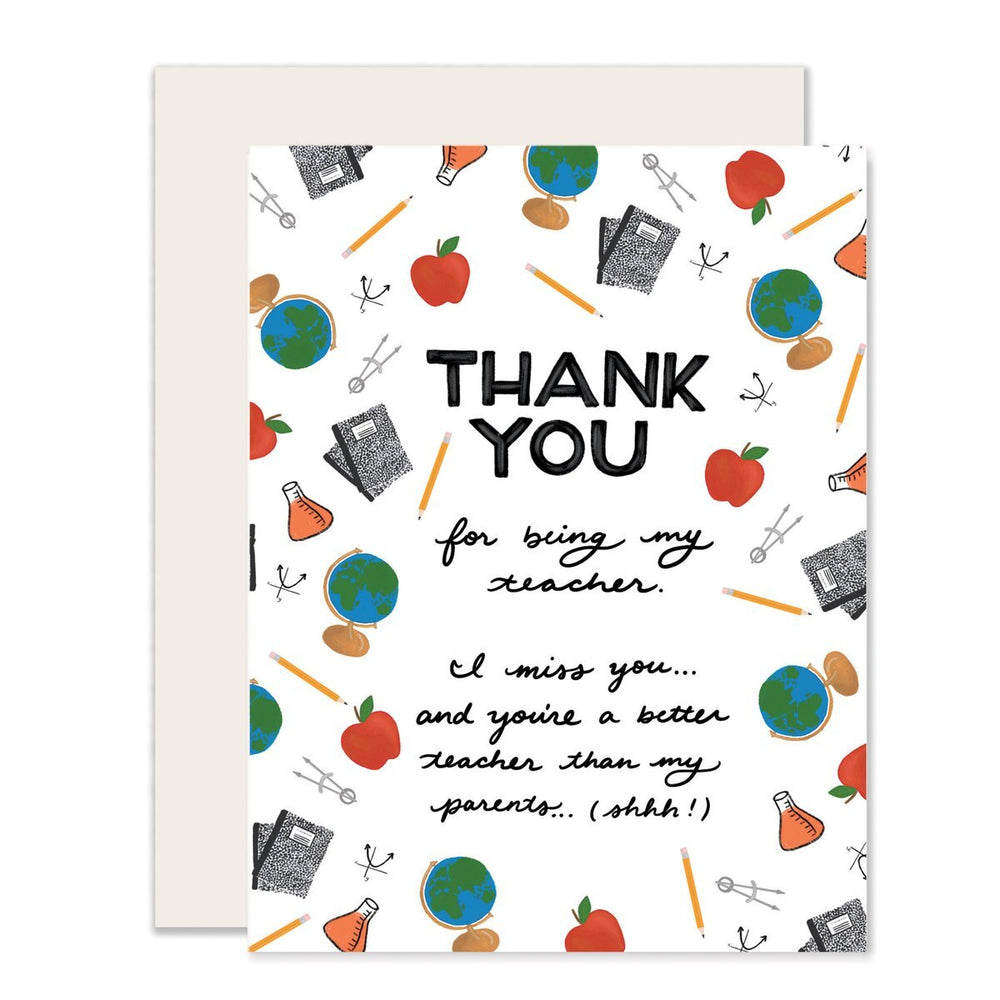 Teacher Thank You Card - From Student