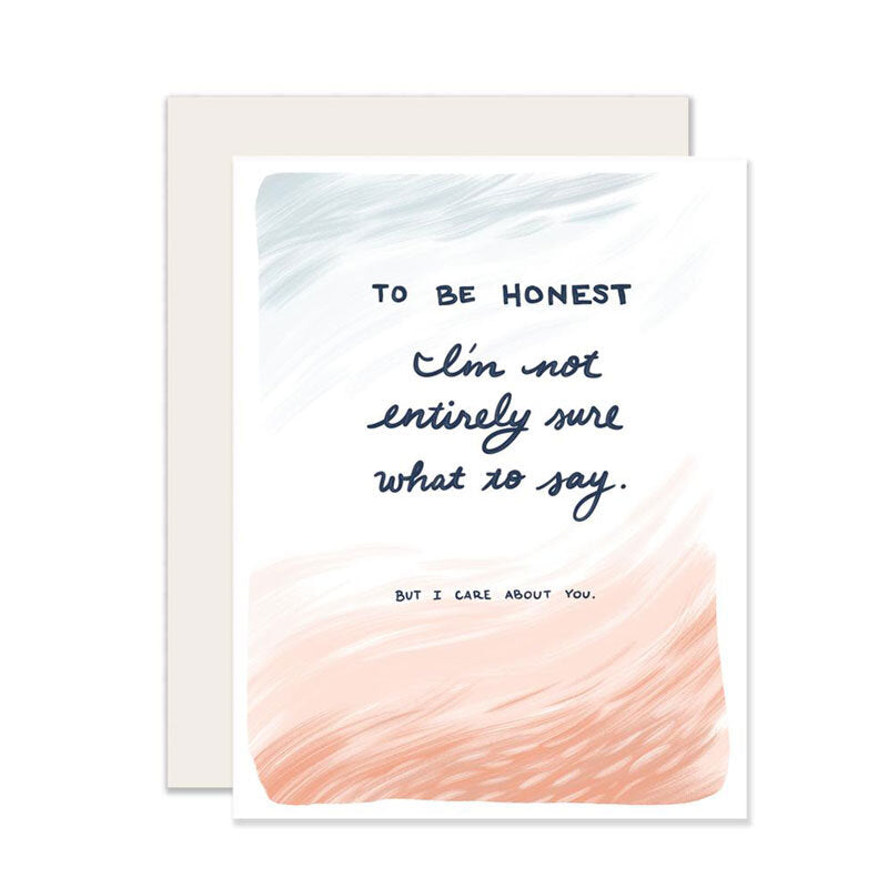 To Be Honest Card - M.Lovewell