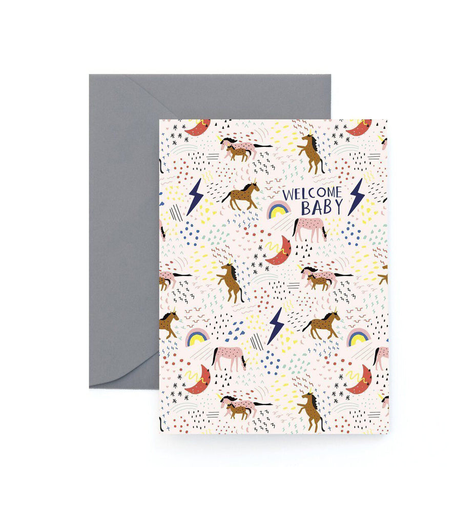 Welcome Baby Unicorn Card